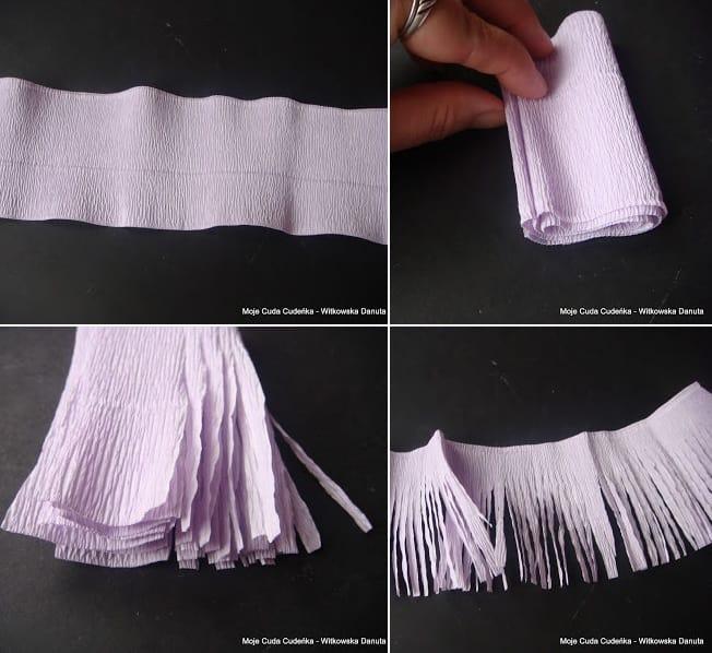 Гиацинты из гофрированной бумаги. Мастер-класс (4)
