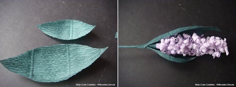 Гиацинты из гофрированной бумаги. Мастер-класс (8)