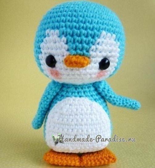 Игрушка крючком. Пингвин амигуруми