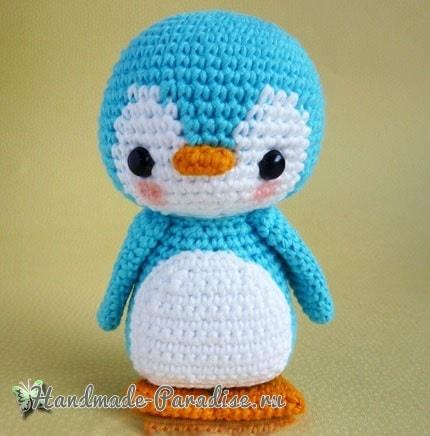 Игрушка крючком. Пингвин амигуруми (2)