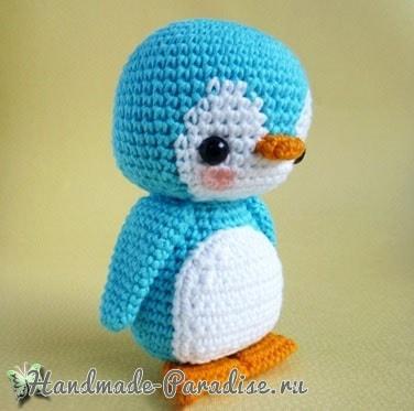 Игрушка крючком. Пингвин амигуруми (3)