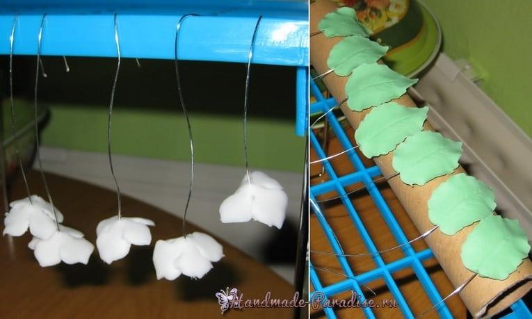 Лепка гортензии из сахарной мастики (6)