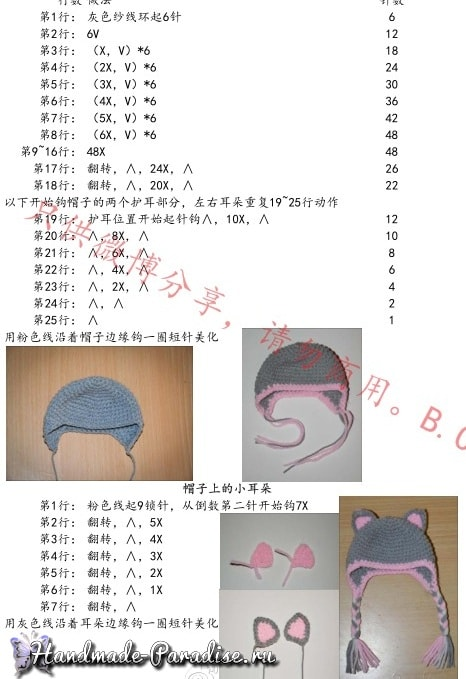 Медвежонок в шапочке. Амигуруми крючком (6)