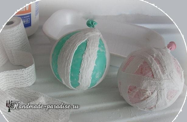 Пасхальные яйца из гипсового бинта (3)