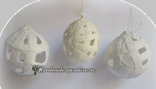 Пасхальные яйца из гипсового бинта (4)