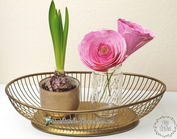 Ранункулюс - садовый лютик из бумаги (7)