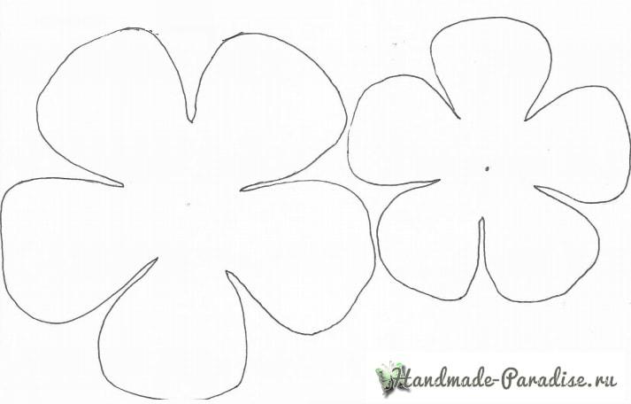 Ранункулюс - садовый лютик из бумаги (8)