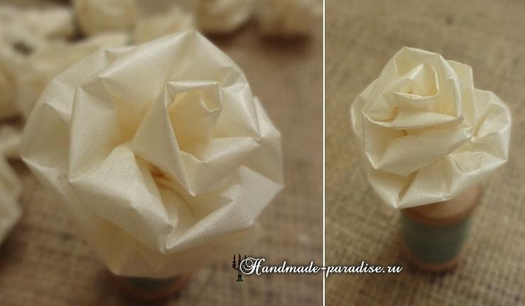 Розы из кальки
