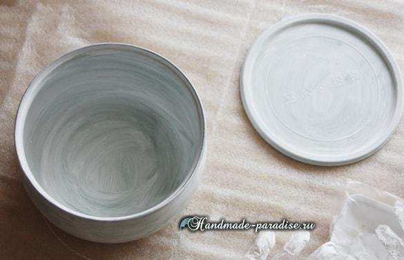 Шкатулка для рукоделия из салатницы (2)