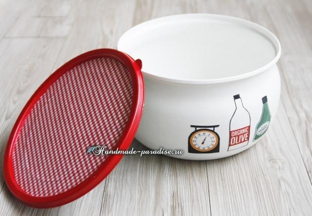 Шкатулка для рукоделия из салатницы (7)