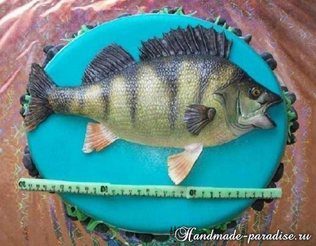 Самый-самый рыбный торт. Подарок для мужчины (11)