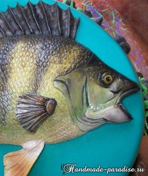 Самый-самый рыбный торт. Подарок для мужчины (13)