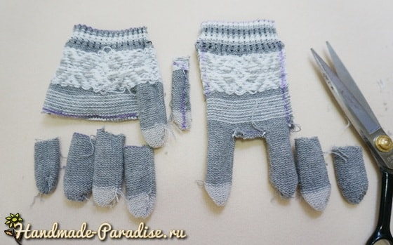 Слоник из перчаток. Мастер-класс (3)