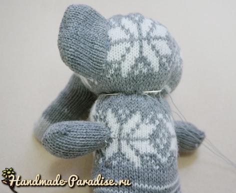 Слоник из перчаток. Мастер-класс (4)