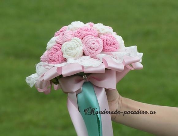 Свадебный букет с розами крючком. Схемы (3)