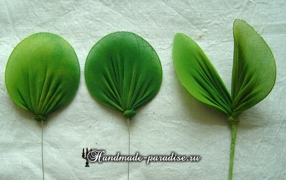 Цветущий горох из капрона (3)