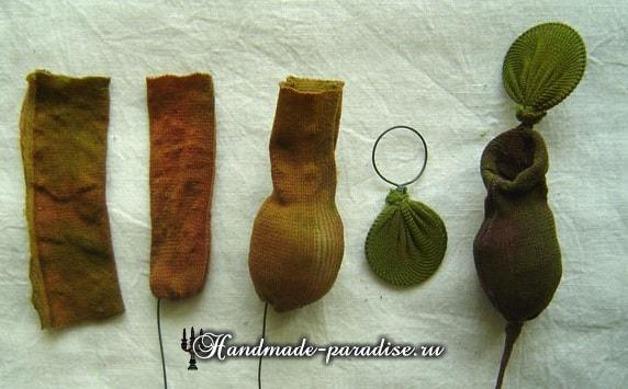 Цветущий горох из капрона (4)