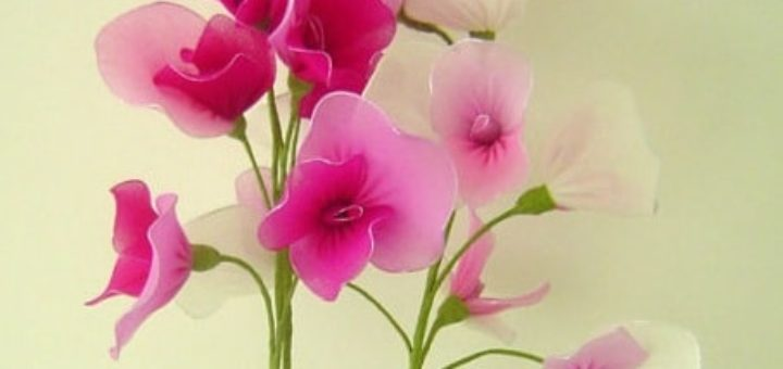 Цветущий горох из капрона