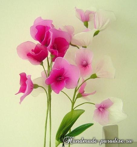 Цветущий горох из капрона (6)