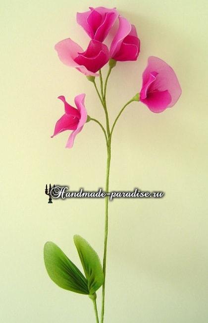 Цветущий горох из капрона (7)