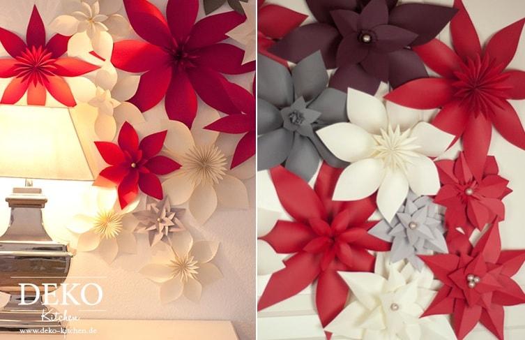 Цветы из бумаги для праздничного интерьера