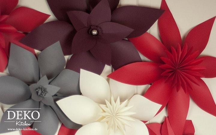 Цветы из бумаги для праздничного интерьера (2)