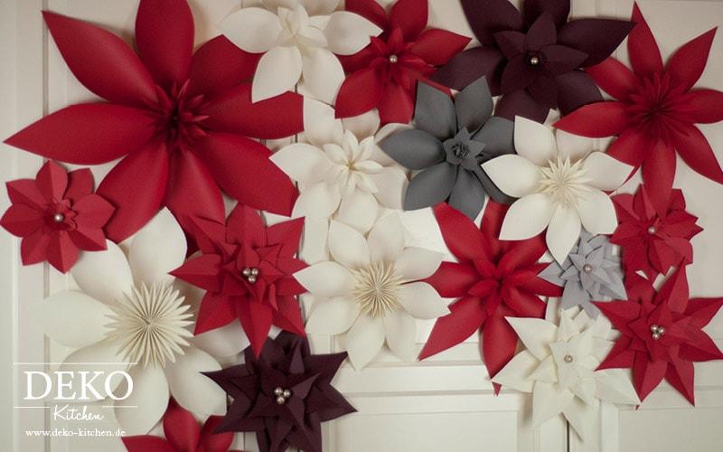 Цветы из бумаги для праздничного интерьера (3)