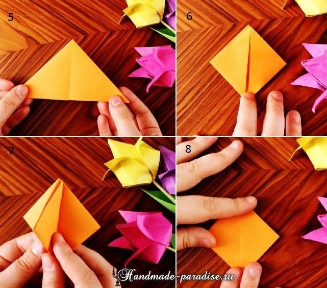 Тюльпаны из бумаги в технике оригами (2)