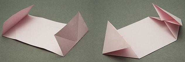 Валентинка из бумаги в технике оригами (2)