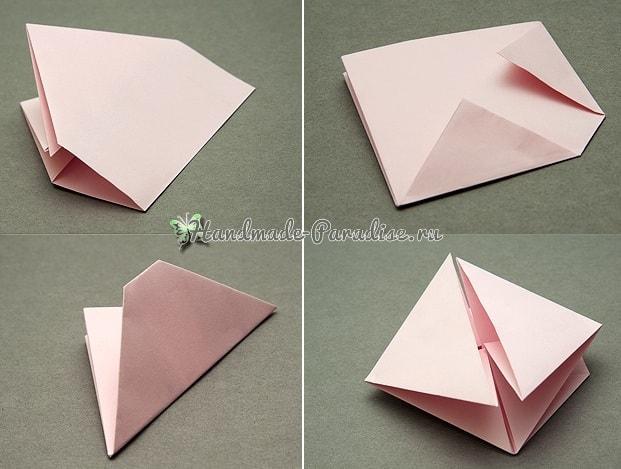 Валентинка из бумаги в технике оригами (3)