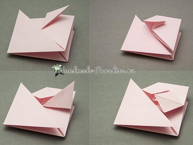 Валентинка из бумаги в технике оригами (4)