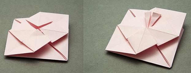 Валентинка из бумаги в технике оригами (5)
