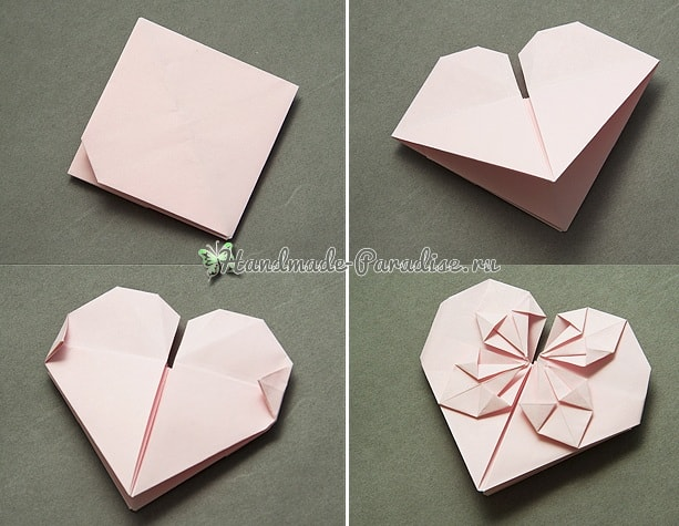 Валентинка из бумаги в технике оригами (6)