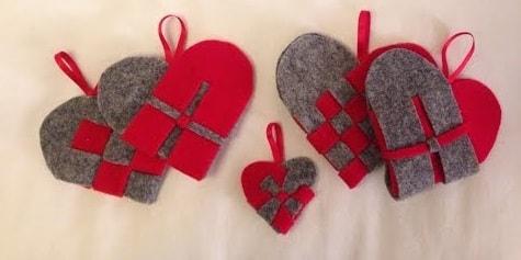 Валентинки из фетра (2)