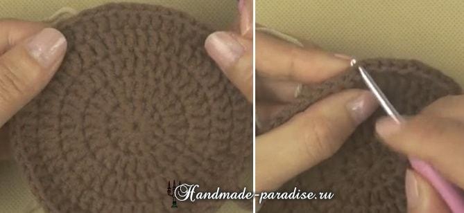 Вязание детского пледа с мишками (12)