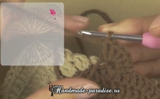 Вязание детского пледа с мишками (14)