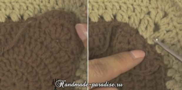 Вязание детского пледа с мишками (15)
