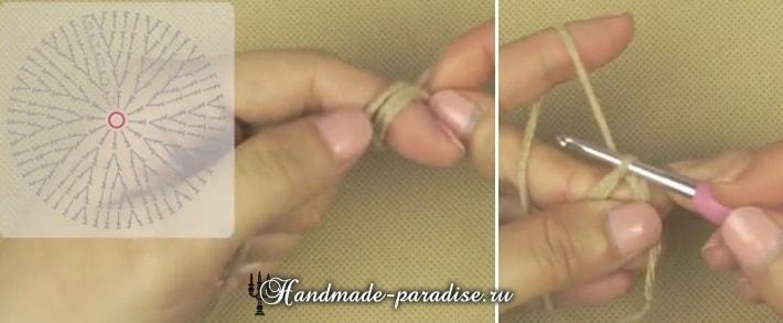 Вязание детского пледа с мишками (6)