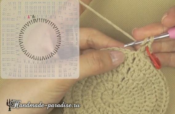Вязание детского пледа с мишками (8)