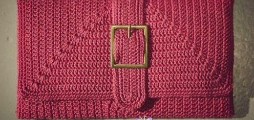 Вязание крючком клатча. Схема