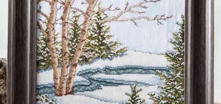 Зимняя сказка. Схемы вышивки крестом