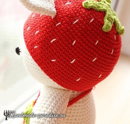 Амигуруми. Клубничный кролик (2)