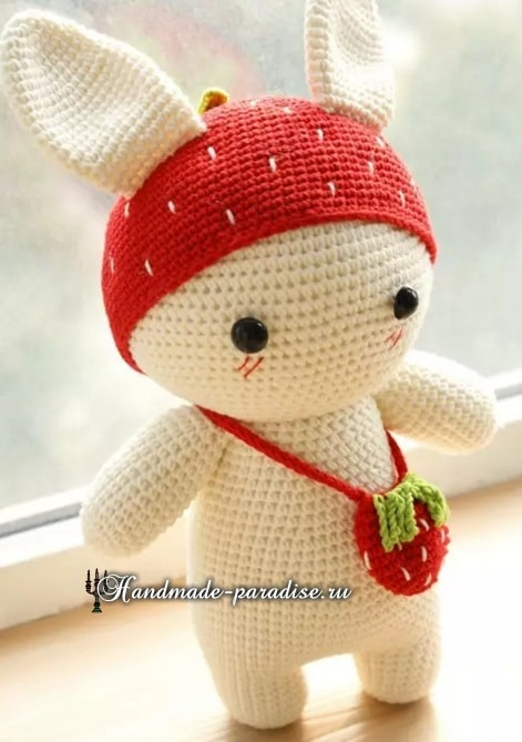 Амигуруми. Клубничный кролик (3)