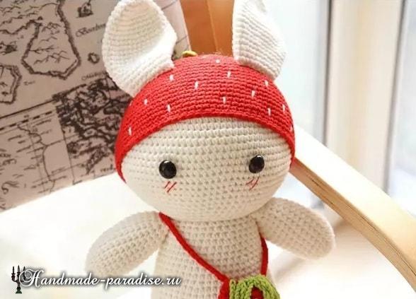 Амигуруми. Клубничный кролик (6)
