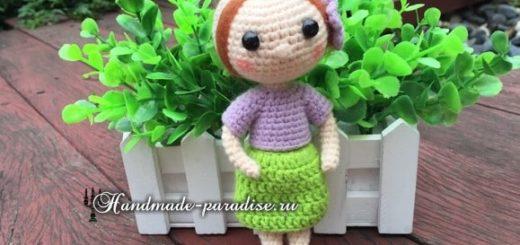 Амигуруми. Куколка в красных туфельках