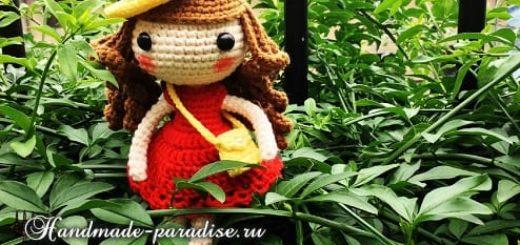 Амигуруми. Куколка в шляпке