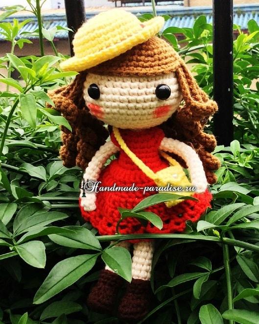 Амигуруми. Куколка в шляпке (3)
