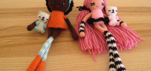 Длинноногие куколки амигуруми от Wendy de Boer