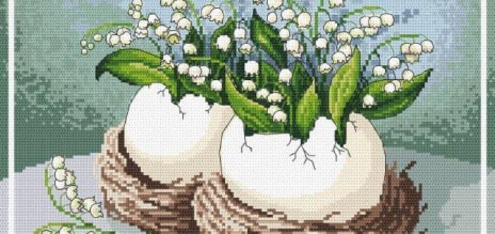 Дыхание весны. Схемы вышивки крестом