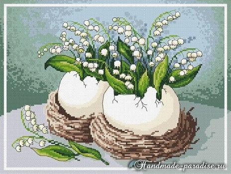 Дыхание весны. Схемы вышивки крестом (2)